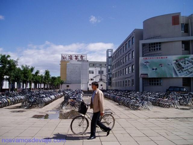 aparca bicis en colegio chino