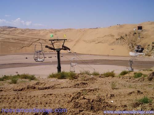 material para nieve en el desierto