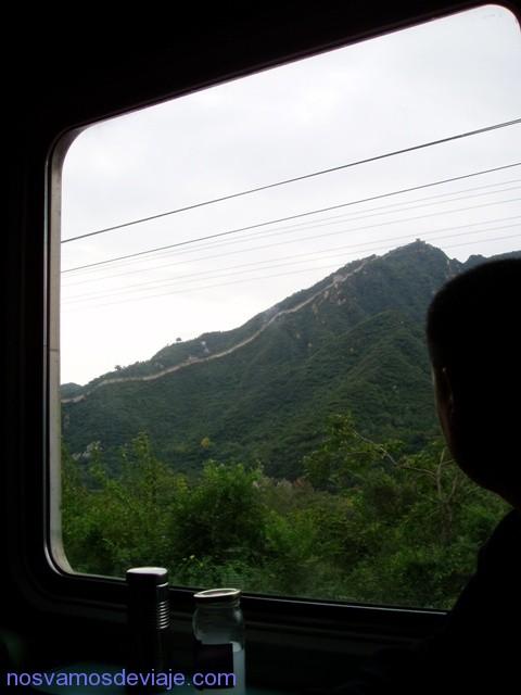 muralla china desde tren