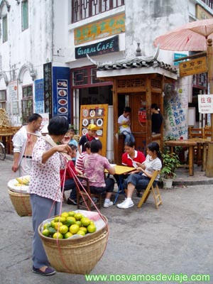 vida local en Yangshuo