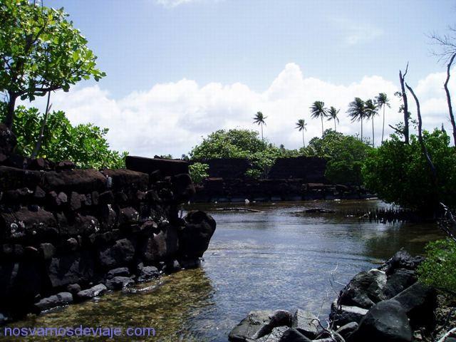 Vista de los canales de Nan Madol