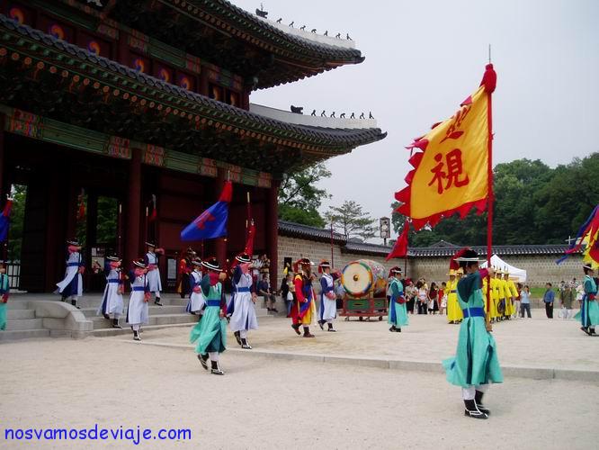 Cambio de guardia Palacio Changdeokgung