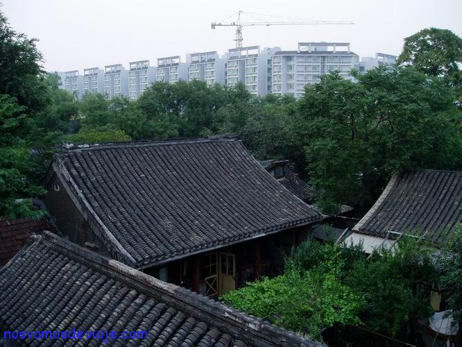 Hutong sobreviviente del boom constructor
