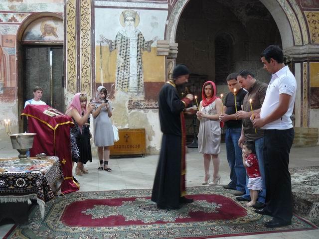 Bautizo en monasterio de Gelati