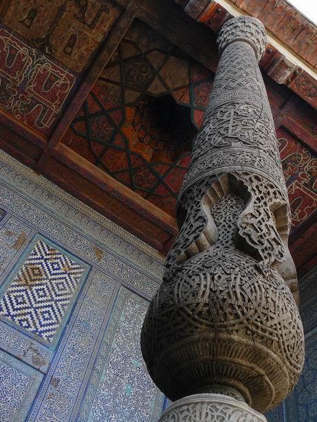 Decoración de una mansión en Khiva