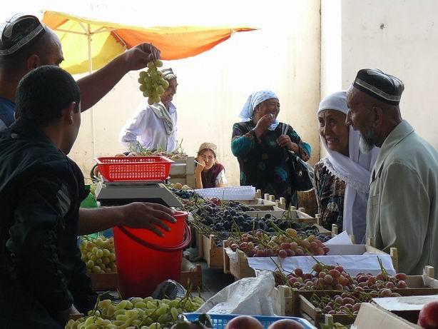 Mercado en Fergana