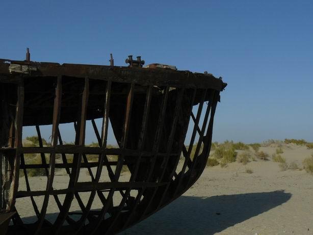 Restos de la flota pesquera del Aral