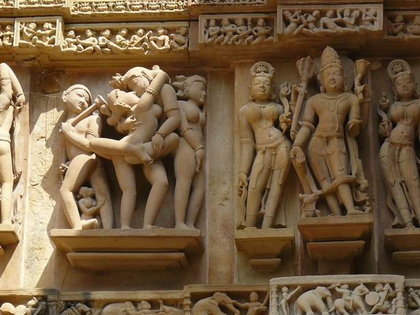 Detalle de las esculturas de Khajuraho