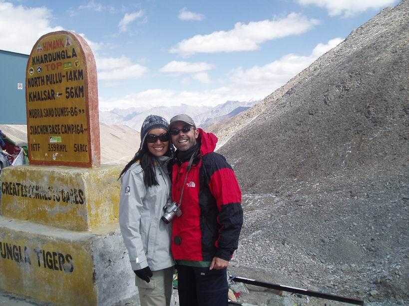 Khardungla, a 5600 mt.