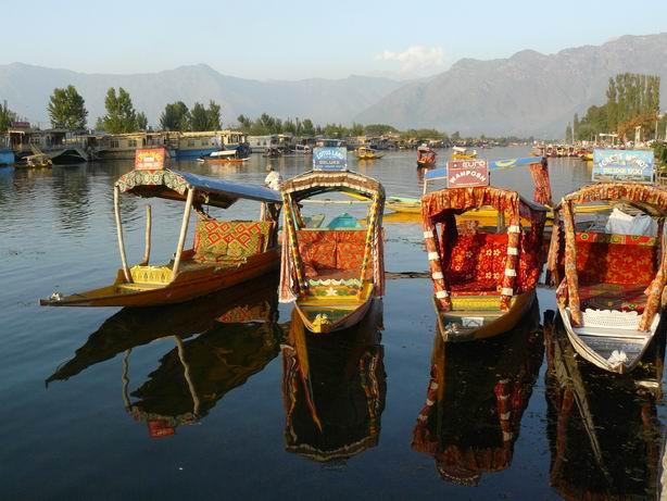 Shikaras en Srinagar