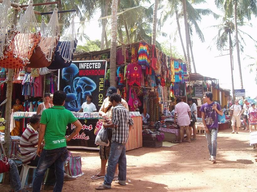 Mercado de las pulgas en Anjuna