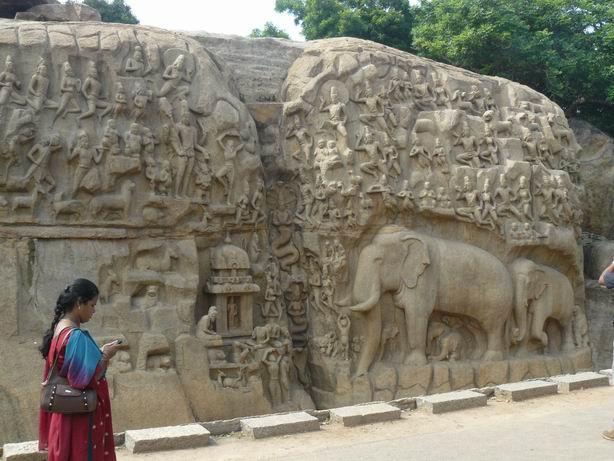 Relieve en Mamallapuram