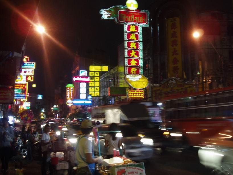 Calle de Chinatown en Bangkok
