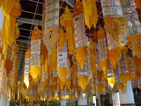 Ofrendas en Chiang Mai