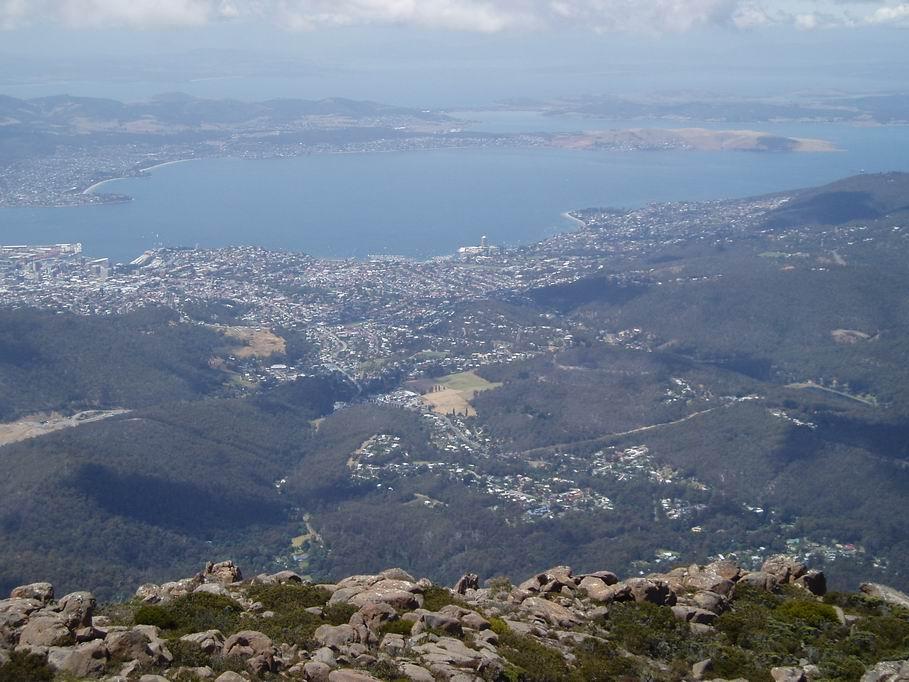 Vista de Hobart, desde el Monte Kellington