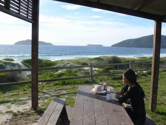 Vista desde la terraza de la furgo al desayuno