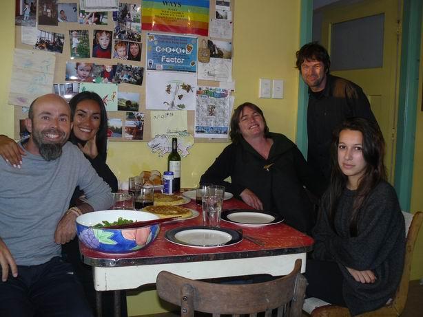 Cenando con Kathryn, Mark y Amy