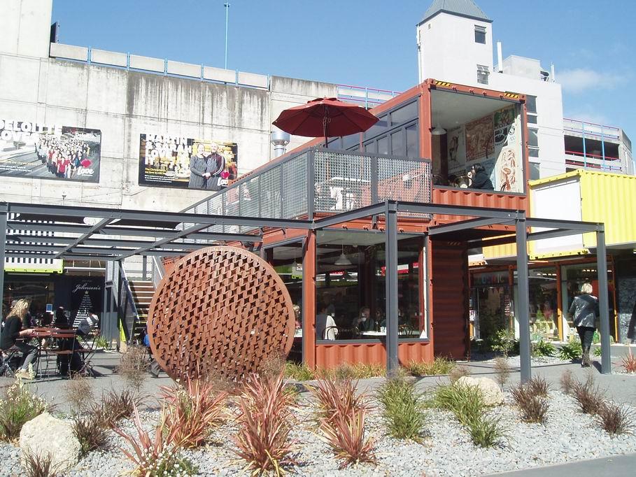 """""""Container mall"""" en el centro de Christchurch"""