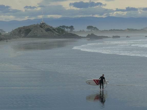 Surf en la península de Banks
