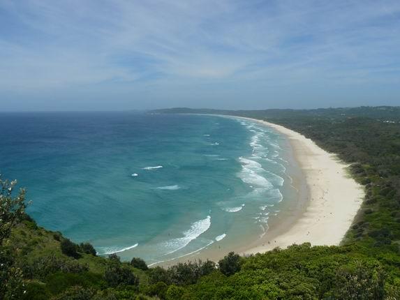 Vista desde el faro, Byron Bay