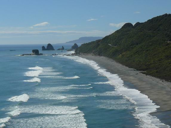 Costa al norte de Greymouth