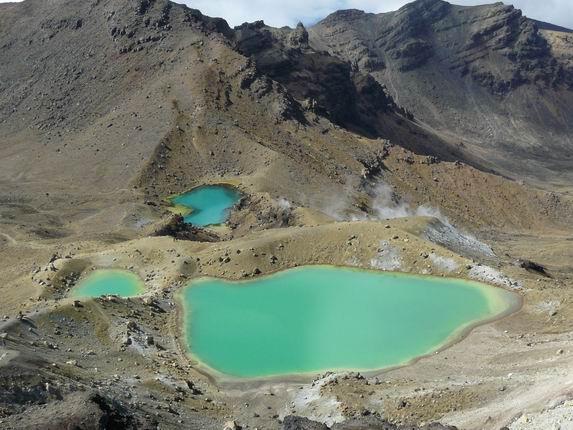 Lagos esmeralda en Tongariro NP