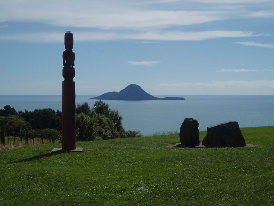 Vista desde la colina en Whakatane