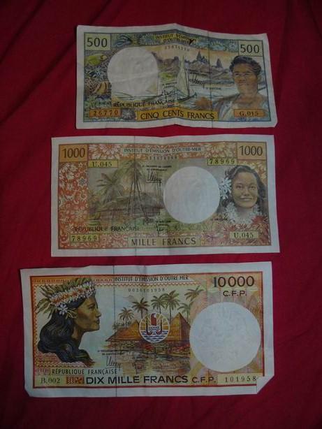 Billetes de Francos del Pacífico