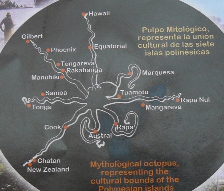 Islas polinesias y el pulpo