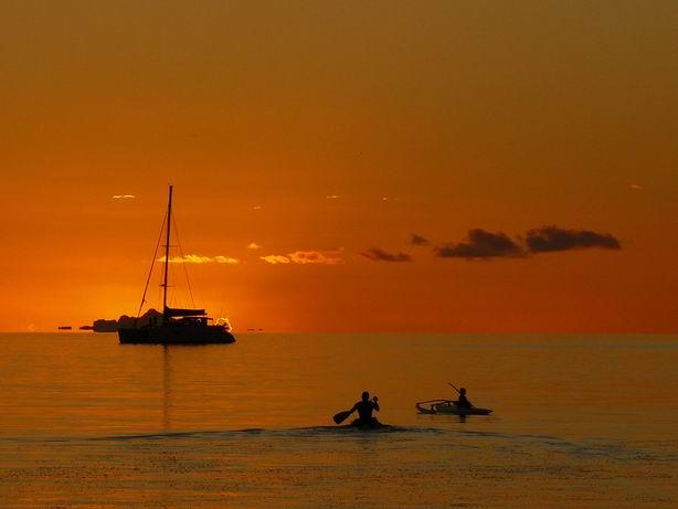 Puesta de sol en Bora Bora