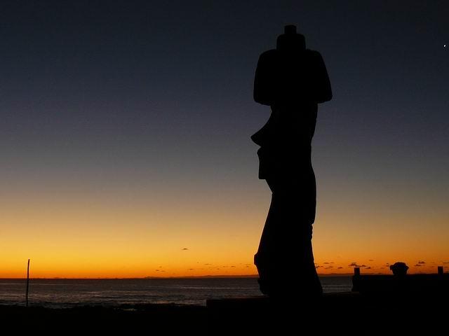 Rapa Nui al atardecer