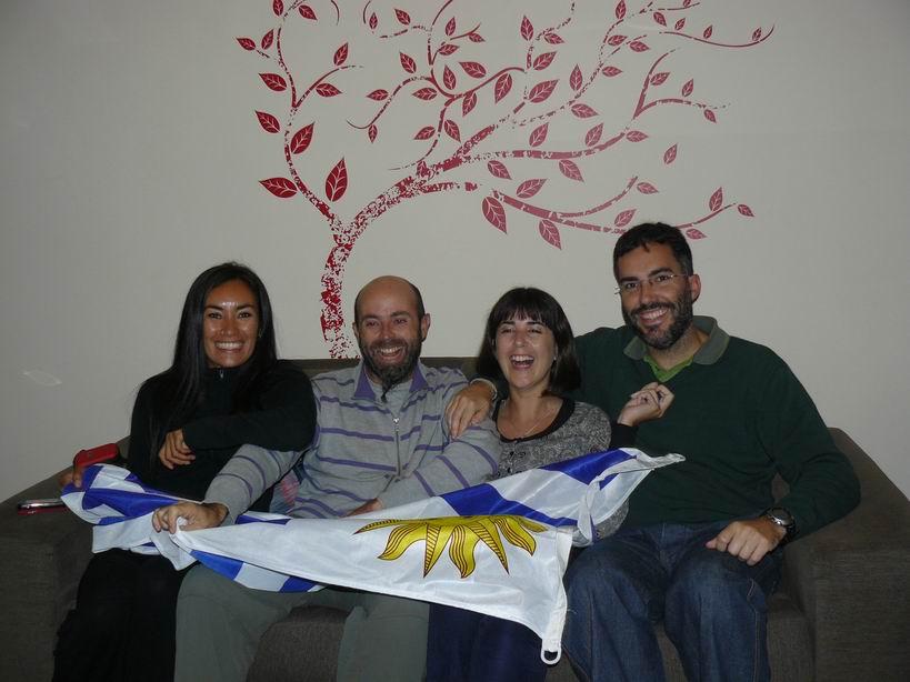 Con August y Alejandra en Montevideo