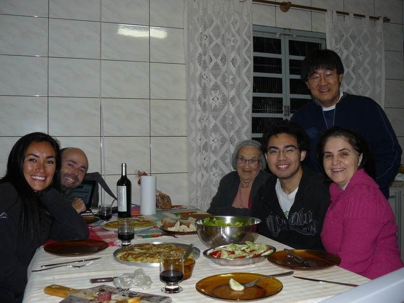 Cenando con Elisabete, Walter, Guillerme y Teresa
