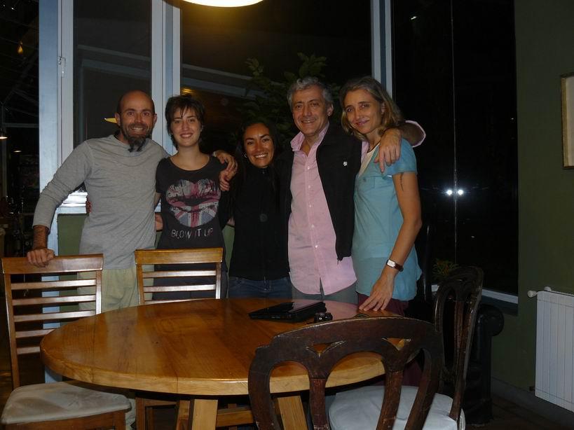 Con Teresa, Alejandro y Montse