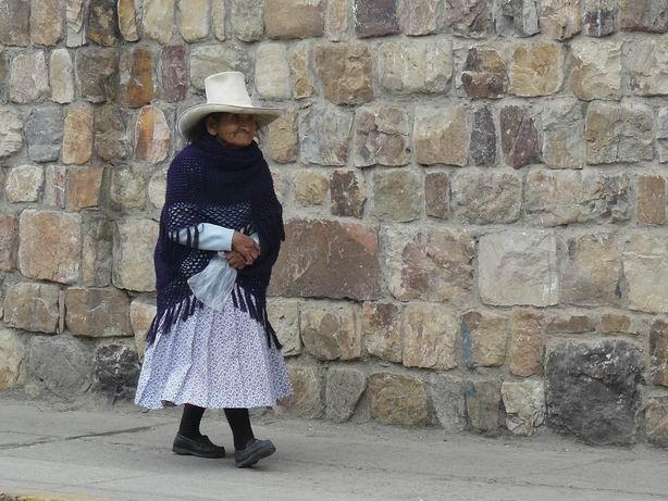 Cholita en Cajamarca