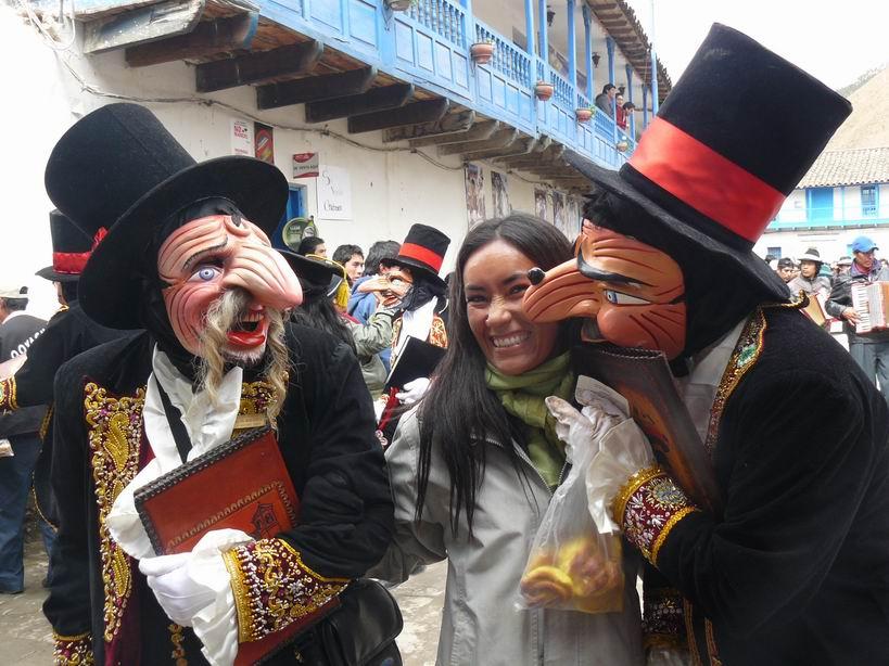 Representantes de la justicia en las fiestas de Paucartambó