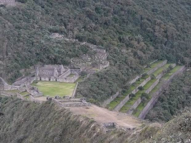 Parte central de Choquequirao