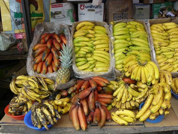 Plátanos del mercado de Otavalo