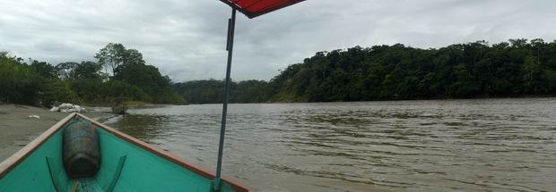 Río Napo hacia el Amazonas