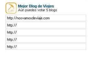 El sitio para escribir tu voto es como el de la foto
