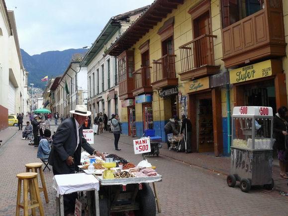 Calle del centro de Bogotá