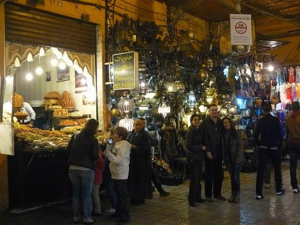 Zoco nocturno en Marrakech