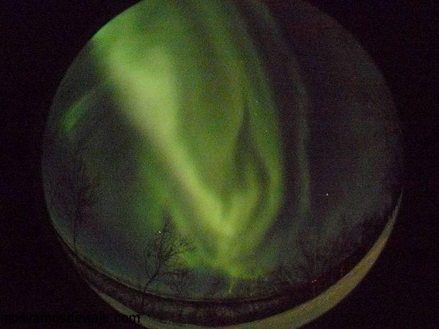 aurora vista con el ojo de pez