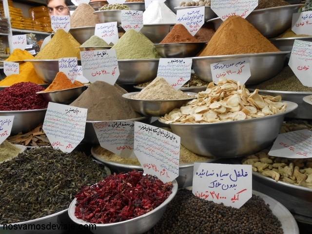 Especias en bazar