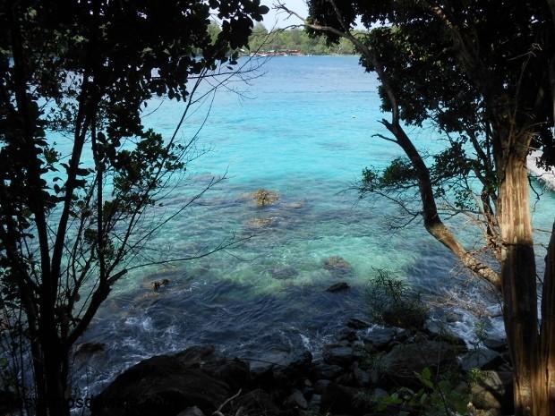Vista del mar, desde la terrazaz de la cabaña, Iboih. Pulau Weh
