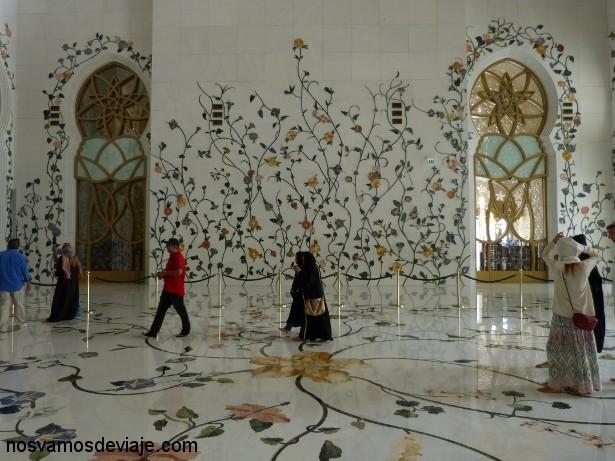 Decoracion de marmol de la mezquita Sheikh Zayed