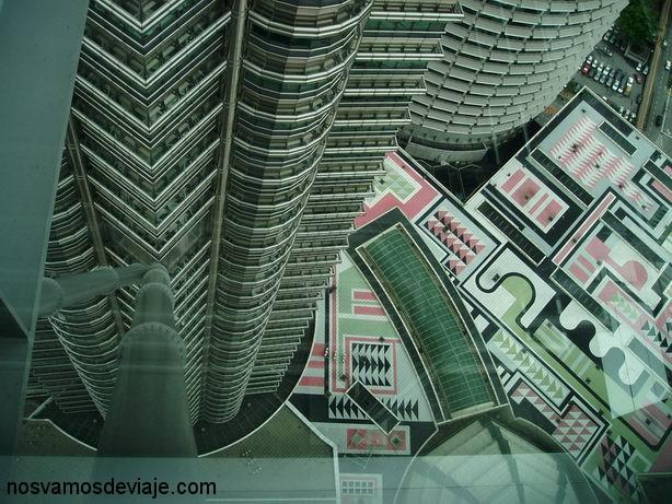 El suelo desde el skywalk de las Petronas