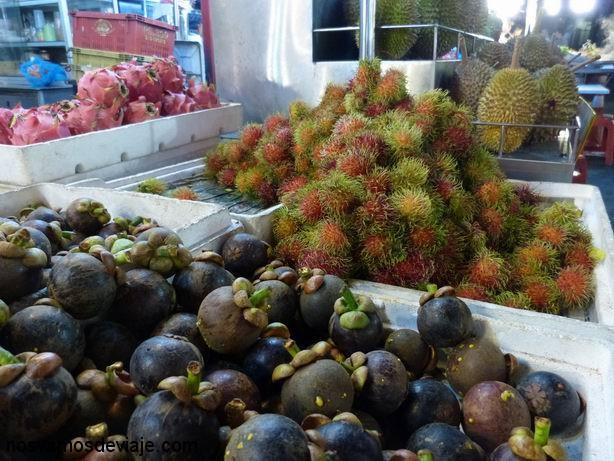 Mangostin, rambutan y durian