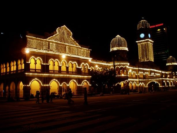Plaza Merdeka en Navidad