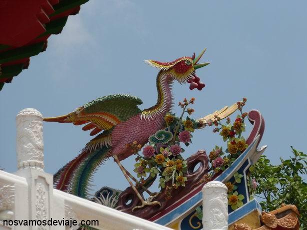 Tejado del templo Thean Hou